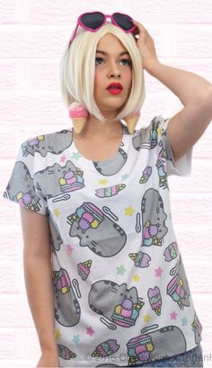 Short sleeve Pusheen t shirt Ice Cream (LDPSH108)