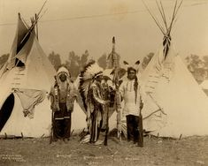 Black Foot, Standing Bear, Big Eagle Oglala 1898 Old Photos - Oglala | Sioux Research-Dakota, Lakota, Nakota