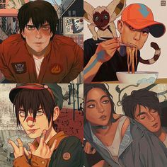 Here's a superb modern fanart by Ana Godis, overtaking this world with a mind blowing version of the Avatar Gang. Such an intoxicating display. Avatar Airbender, Avatar Aang, Suki Avatar, Team Avatar, Avatar Fan Art, Fanart, Kubo And The Two Strings, The Last Avatar, Avatar Series