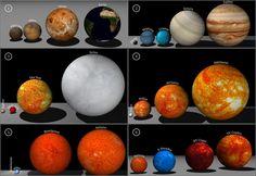 El sol comparado con otras estrellas.