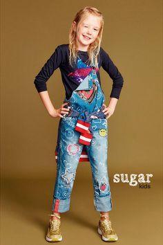 """Chloe from Sugar Kids for Desigual """"Mini Territorio Vaquero""""."""