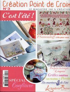 July / August issue boats strawberries  cross stitch