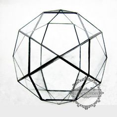 1pcs 22x22x19.5cm geometric 32 face glass terrarium by LancelotDIY