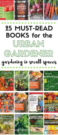 25 Best Gardening Books for the Urban Gardener