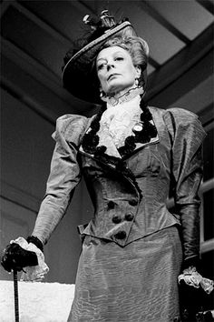 "Dame Maggie Smith as Lady Bracknell in ""The Importance of Being Earnest"" stage  Proof that Lady Bracknell doesn't need to be plump... And I'm so glad I tried out for Lady Bracknell now!"