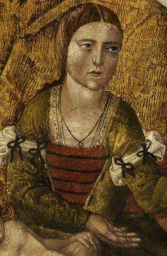 15th century, attr. Fernando_Gallego (1440-507) - Birth_of_Mary det