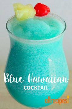 Blue Hawaiian Cocktail This is one drink that will keep you Cool in the summer time and transport you to PARADISE Drinks Blue Hawaiian Cocktail Blue Hawaiian Cocktail, Hawaiian Cocktails, Liquor Drinks, Cocktail Drinks, Cocktail Recipes, Beverages, Alcholic Drinks, Alcohol Drink Recipes, Mixed Drinks Alcohol