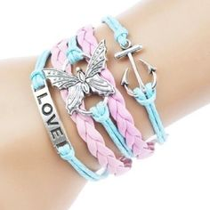 Butterfly Love Anchor Bracelet This fashionable Multi Strand Infinity Bracelet is the perfect accessory for any outfit and would make the perfect gift for friends and family or an extra special treat for yourself! – Multi strand bracelet attached with a metal clasp