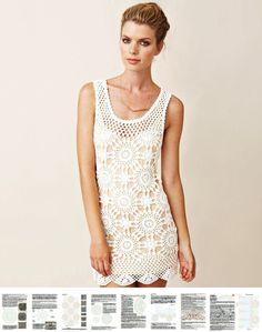 Crochet dress PATTERN crochet beach dress от OnlyFavoritePATTERNs