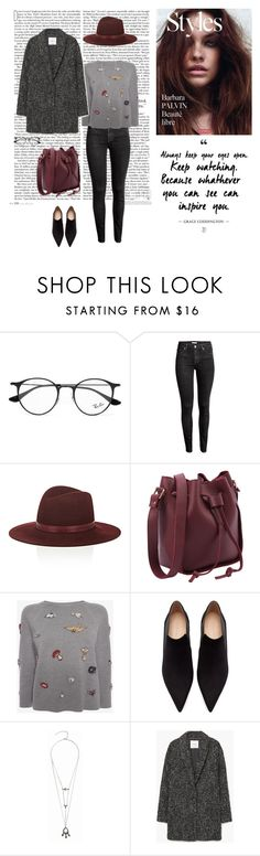 """21/11"" by dorey on Polyvore featuring Ray-Ban, H&M, Janessa Leone, Alexander McQueen, Zara, Dušan and MANGO"