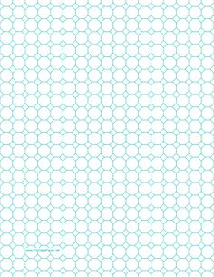 Printable Octagon Graph Paper with 1/2-inch spacing on letter-sized paper