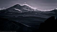 Conway Summit (CA), Dunderburg Peak, Blowing Snow, Monochrome