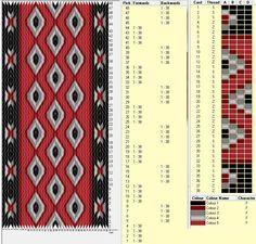 Diseño 38 tarjetas, 5 colores. Alterna 4 movimientos hacia adelante y 4 en reversa  // sed_58 ༺❁