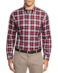 Brooks Brothers Blanket Plaid Button Down Shirt - Classic Fit