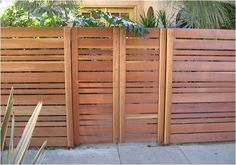 horizontal wood fence best horizontal fence ideas on fencing backyard fences and modern fence design horizontal wood fence panels for sale Wood Fence Gates, Fence Gate Design, Wooden Fences, Wooden Garden, Dog Fence, Redwood Fence, Screen Design, Timber Gates, Modern Front Yard