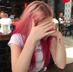I need the pink hair aesthetic again but I have to wait until after musical Dye My Hair, New Hair, Aesthetic Hair, Crazy Hair, Cool Hair Color, Hair Looks, Pretty Hairstyles, Hair Inspiration, Pixie