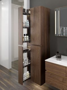 100 Inspired Bathroom Storage Units for Modern Minimalist Bathroom Large Bathrooms, Bathroom Design Small, Bathroom Interior Design, Modern Bathroom, Bathroom Storage Units, Bathroom Storage Solutions, Door Storage, Minimalist Bathroom, Modern Minimalist