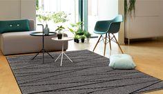 Teppich Arte Espina Optical Art Move 4471-73 grau | Raum Quadrat - Fashion Your Room - Der Onlineshop für Teppiche