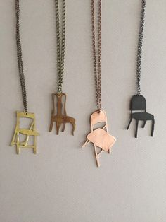 Chair Necklace by pghJewelryNat on Etsy