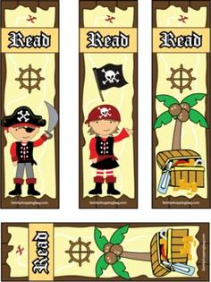Pirate Bookmarks, Pirate, Bookmarks - Free Printable Ideas from Family… Jack Le Pirate, Pirate Day, Pirate Birthday, Pirate Theme, The Pirates, Pirate Activities, Pirate Crafts, Pirate Treasure, Up Book