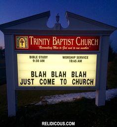 Blah, blah, blah... (Via Relidicous.com)