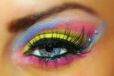 Bright Eye Makeup. This is awful...