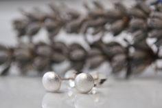 Silver bubble stud earrings £19.00