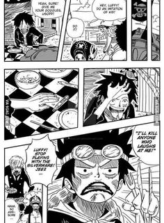 Monkey D. Luffy imitates Eustass Kid - Sanji, Usopp, Tony Tony Chopper One piece
