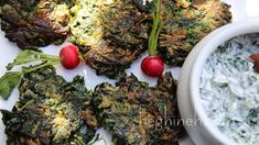 Spinach Fritters Recipe - Ohtsheh - Armenian Cuisine - Heghineh Cooking ...