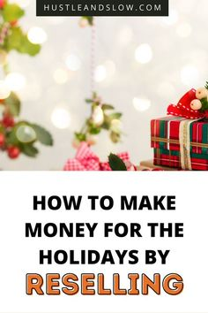 Make extra money this holiday season by starting a reselling business. I share with you everything you need to know to get started! Make Money Fast, Make Money From Home, Extra Cash, Extra Money, Frugal Christmas, Holiday, Stay At Home Dad, Frugal Living Tips, Selling On Ebay