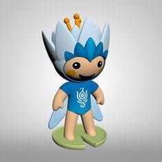 Fina kabala WATER LALA Luigi, Smurfs, 3d, Water, Model, Fictional Characters, Gripe Water