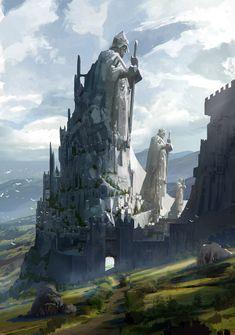 Imaginary Castles Art Album on Imgur Fantasy concept art Fantasy castle Fantasy landscape