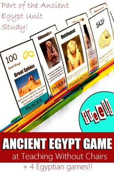 Ancient Egyptian Games (FREE PRINTABLE GAME!!) - Ancient Egypt Unit Study Day 4 | Teaching Without Chairs #worldhistoryteaching #world #history #teaching #free #printable