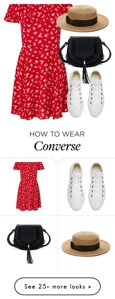 """""""Untitled #6559"""" by laurenmboot on Polyvore featuring Miss Selfridge, Converse and Forever 21"""