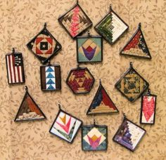 Me And My Stitches Quilt Jewelry Pins Pendants Patterns