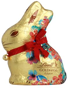 Lindt Goldhase Blumen Edition 200g Lindt, Gold, Chocolate, Christmas Ornaments, Disney Princess, Disney Characters, Holiday Decor, Products, Hare