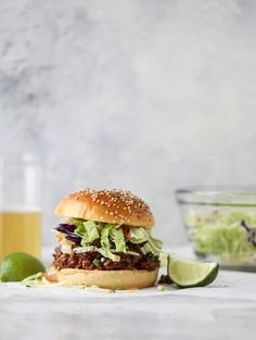 asian style sloppy joes I howsweeteats.com #sloppyjoes #recipes