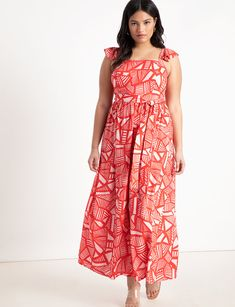 701275ced View our Ruffle Strap Maxi Dress and shop our selection of designer women's  plus size Dresses