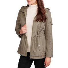 Faded Glory Women's Reversible Anorak - Wear It Two Ways!, Size: XS, Green