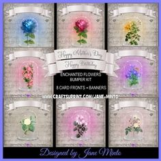 ENCHANTED FLOWERS QUICK CARD BUMPER KIT - MAKE 8 CARDS