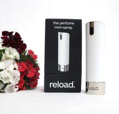Parfum Mini Spray von reload zum selbst Befüllen. Dein Lieblingsparfum immer mit dabei. #parfum #reload
