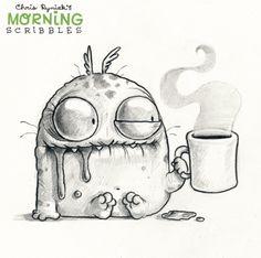 Chris Ryniak is creating Friendly Monster Drawings - . - Chris Ryniak is creating Friendly Monster Drawings - - ? Cute Monsters Drawings, Funny Drawings, Doodle Drawings, Art Drawings Sketches, Doodle Art, Funny Sketches, Funny Monsters, Monster Sketch, Doodle Monster