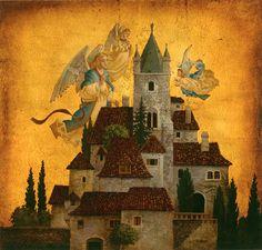 Angels of My Village by James C. Christensen