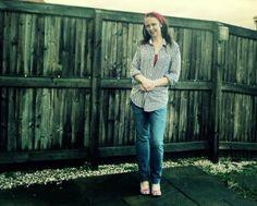 Clairejustine | UK Lifestyle | 40+ Style Blog | Nottingham |: What I Wore : Mans Shirt Restyled!!