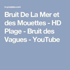 Bruit De La Mer et des Mouettes - HD Plage - Bruit des Vagues - YouTube