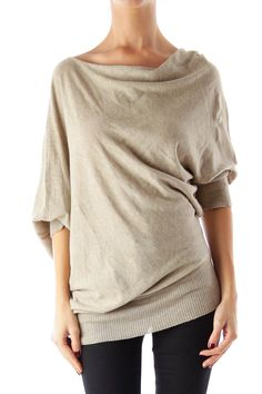 Like this Max Studio shirt? Shop this without using money! Trade. Shop. Discover. #fashionexchange #prelovedfashion  Taupe Asymmetric Shirt by Max Studio