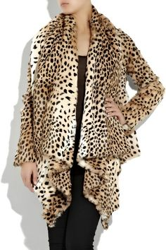 Alexander McQueen Leopard-print goat jacket Alexander McQueen jacket has an oversized collar that drapes at the front, a shorter back, long fitted sleeve Animal Prints In Fashion, Fashion Prints, Fashion Design, Alexander Mcqueen, Leopard Fashion, Fabulous Furs, Cheetah Print, Leopard Prints, Fashion Outfits
