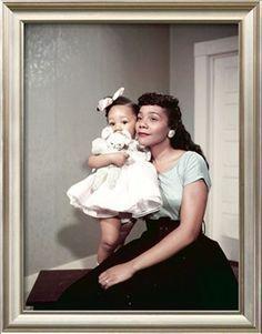 Coretta Scott King, Baby Daughter Yolanda King, 1958 Photographic Print by Moneta Sleet at Art.com