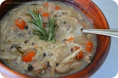 yummy! skinny chicken and wild rice soup...