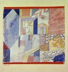 Paul Klee, Abstraction mit dem Krug (Abstraction à la cruche), 1919 - encre et aquarelle sur papier - @centrepompidou